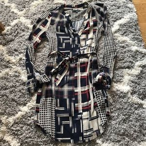 Sanctuary button down pattern dress